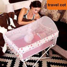 Fold lit De Voyage Bébé, lumière 4.3 kg Infantile lit, peut prendre sur avion bébé lit