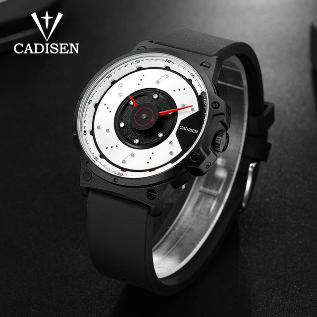 Casual Watch With Silicone Band