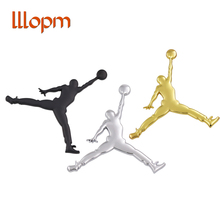 NBA Metal 3D Jordan Jumpman Car Sticker Decor Metal emblem Car badge Logo Motorcycle Emblem Labeling Car Styling Accessories cheap Stickers Words car Accessories Other 3D Sticker Stainless Steel The Whole Body LLLOPM Famous Brand Not Packaged Car Body