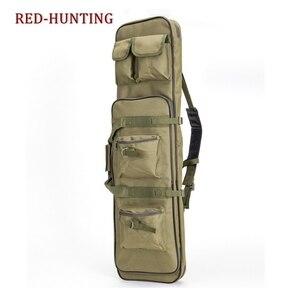 Image 3 - Yeni 120cm tüfek tabanca kılıfı taktik silah çantası yumuşak yastıklı karabina durumda olta çantası sırt çantası tabanca Shotgun Airsoft durumda depolama