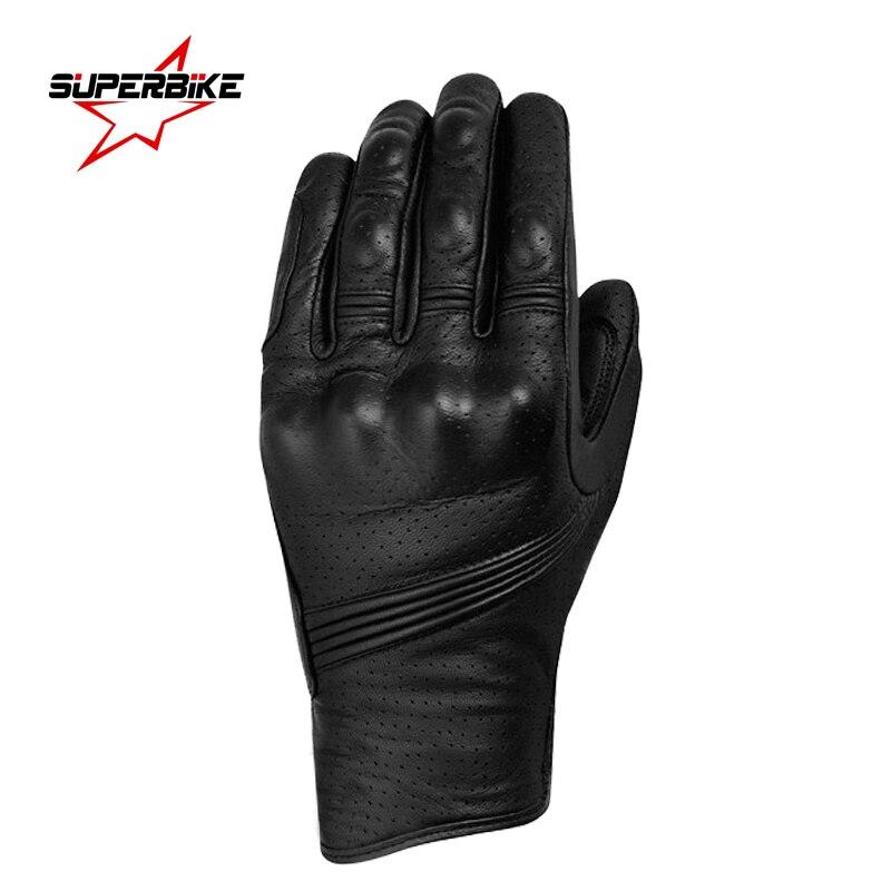 Motorcycle Gloves Touch Screen Goatskin Leather Men Moto Glove Electric Bike Gloves Luvas da motocicleta Os