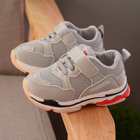 Kinder Schuhe für Mädchen Jungen Schwarz Turnschuhe Baby Mesh Atmungsaktiv Casual Kinder Sport Schuhe Mode Weichen Nicht slip Lauf kleinkind-in Turnschuhe aus Mutter und Kind bei