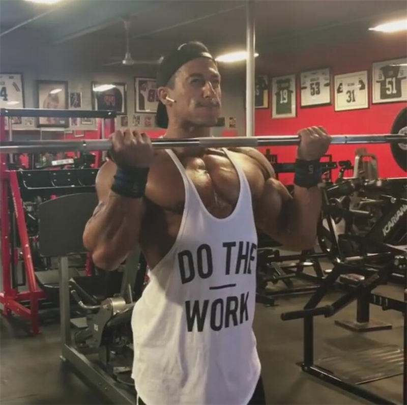 c208d53dadc Gym Men Bodybuilding Tank Top Muscle Stringer Athletic Fittness Shirt  Clothes Men Cotton Hot Top Clothing Summer