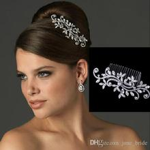 Fancy Wedding Bridal Hair Comb Jewelry Flower Crystal Tiaras & Hair Accessories Sparkly Bride Hair Combs In Stock Ready to Ship