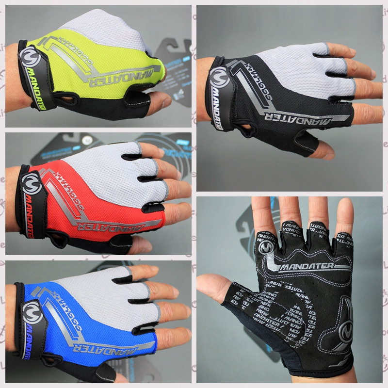 Gloves Bycicle Cycling Sport Half Finger MTB Bike Gel Pad Breathable Glove New