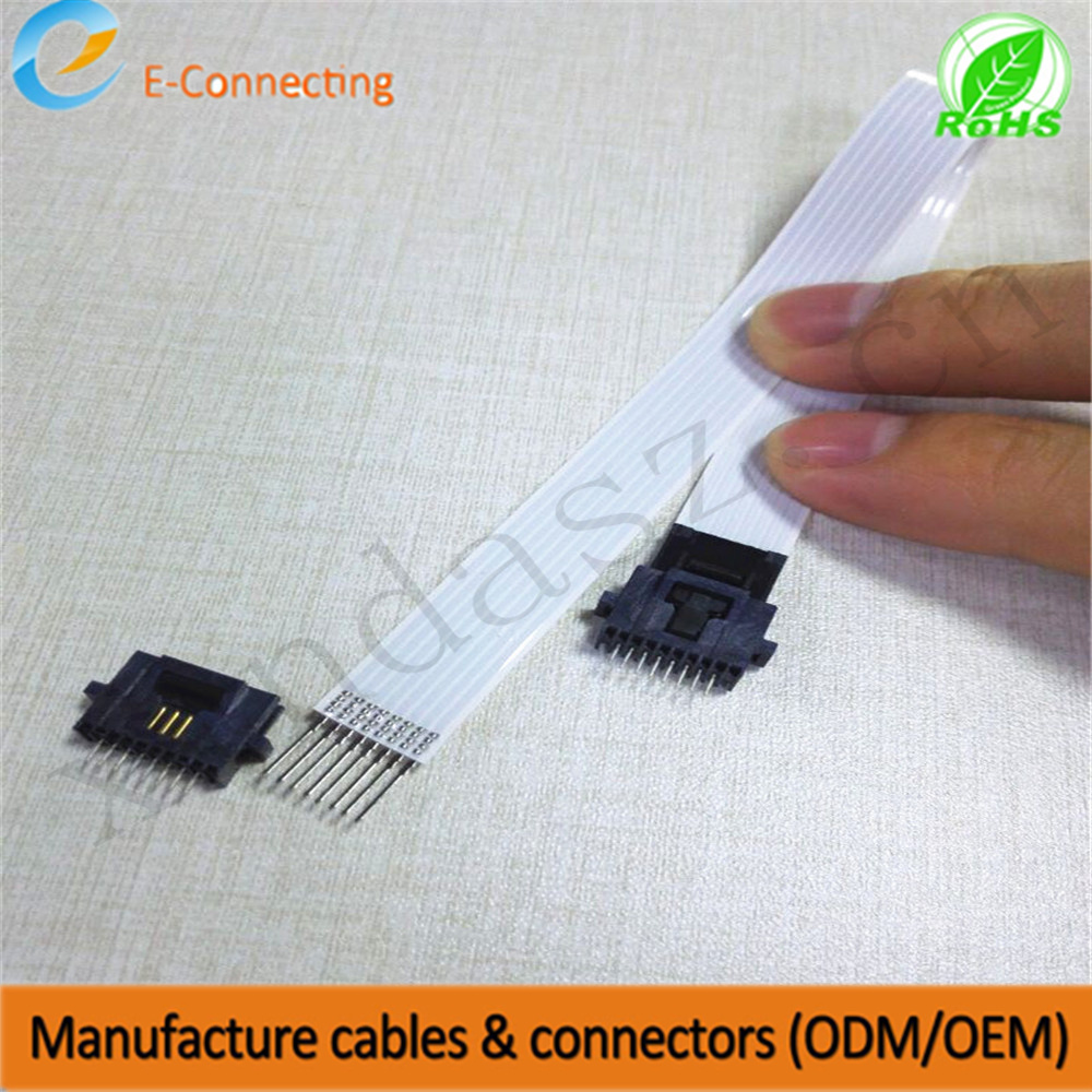 Free Shipping 8pin 1.27mm pitch 210mm length one end with solding pin anther end with connector Flexible FFC airbag cableFree Shipping 8pin 1.27mm pitch 210mm length one end with solding pin anther end with connector Flexible FFC airbag cable