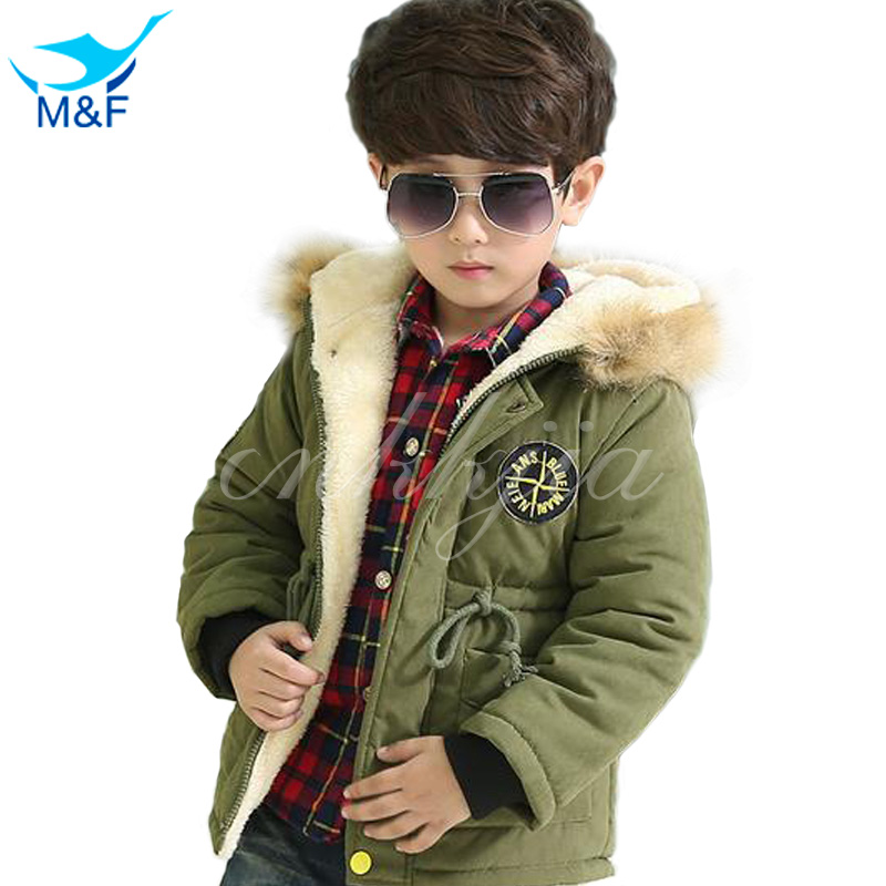 ФОТО M&F 2017 High Quality Baby Boys Winter Jacket Coat Warm Cashmere Kids Hooded Outerwear Casual Boy Down Parka Children's Clothes