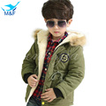 M&F 2017 High Quality Baby Boys Winter Jacket Coat Warm Cashmere Kids Hooded Outerwear Casual Boy Down Parka Children's Clothes