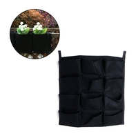 Flower Pots Planter On Wall Hanging Vertical Felt Gardening Plant Decor Green Field Grow Container Bags