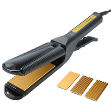 Wholesale 3in1 Straightening Irons Tourmaline Ceramic Flat Iron Professional Hair Straightener Corrugated Electric Styling Tools