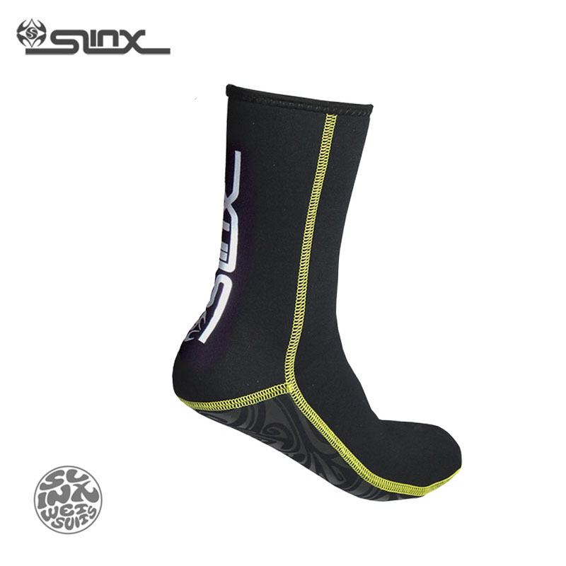 SLINX 1130 3 mm Neoprene Burra Gra Femra Scuba Diving Socks Sworape Swimwear Wetsuit Parandalimi i Scratch
