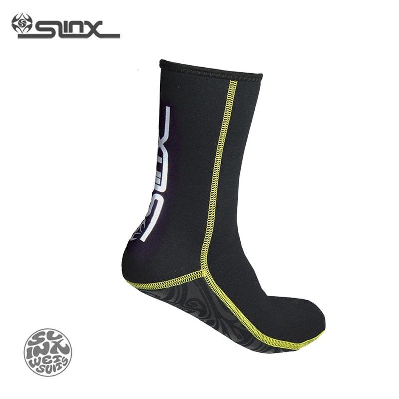 SLINX 1130 3mm Neoprene Pria Wanita Scuba Diving Socks Berenang Pakaian Renang Wetsuit Mencegah Scratch Hangat Snorkeling Kaus Kaki Spearfishing