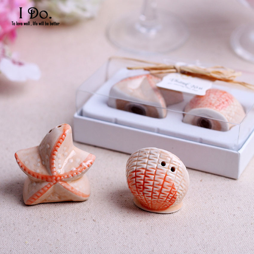 Free Shipping Starfish Salt Pepper Shaker Wedding Favors And