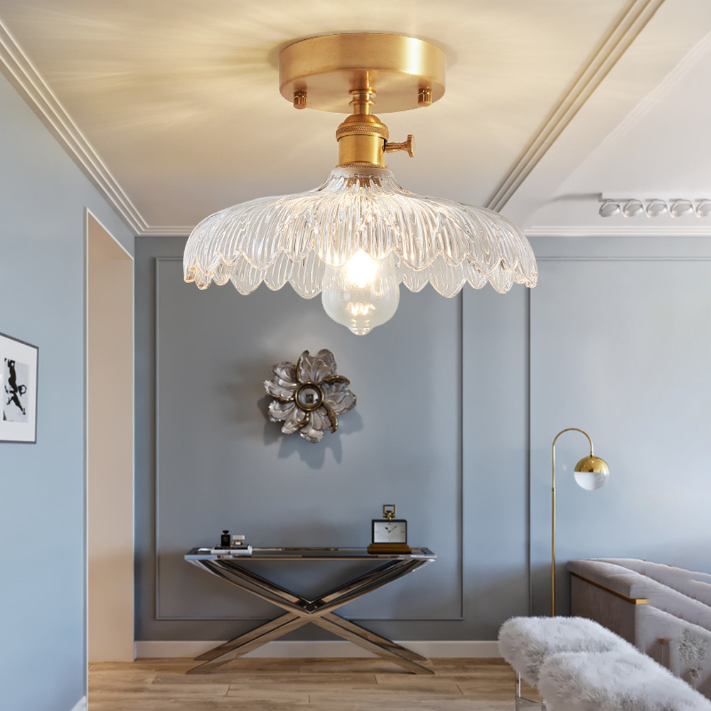 Nordic lamps Japanese brass glass modern simple corridor staircases fluttering windows into the balcony lights LU8221438Nordic lamps Japanese brass glass modern simple corridor staircases fluttering windows into the balcony lights LU8221438