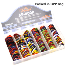 Lots of 100pcs Alice AP-P Smooth ABS Guitar Picks Assorted Colors 6 thicknesses