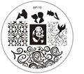 1 шт. Лучшие Продажи Моды DIY Для Ногтей Красоты Nail Art Image Stamp Штамповка Плиты 3D Nail Art Шаблоны Трафаретов Маникюр инструмент