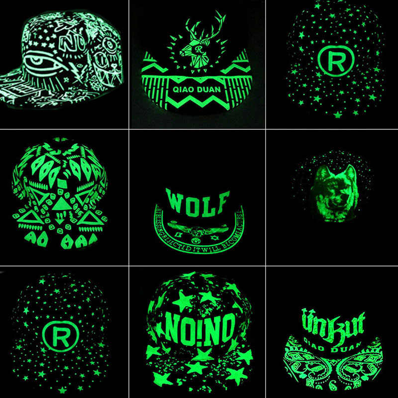 Крутая мужская бейсбольная кепка с граффити, светящаяся светлая в темноте бейсболка s для мальчиков, Мужская Черная шапка Cachuchas De Hombre