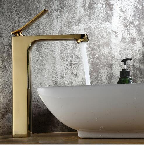 High Quality Basin faucet brass bathroom faucet European Style Gold luxury sink faucet tall water tap sink faucet european style brass