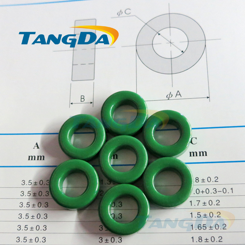 все цены на Tangda insulated green ferrite core bead 68*43*14 mm ring magnetic coil inductance interference anti-interference filter онлайн