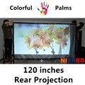 120 Polegadas 4:3 16:9 Filme Tela de Projeção Traseira Filme de Alta Defenition Preço Barato para Parede 3D HD LED Projetor Portátil montado