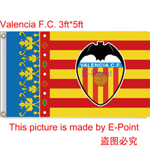 Spain La Liga Valencia FC Flag 3ft x 5ft (90cm*150cm) Polyester flag