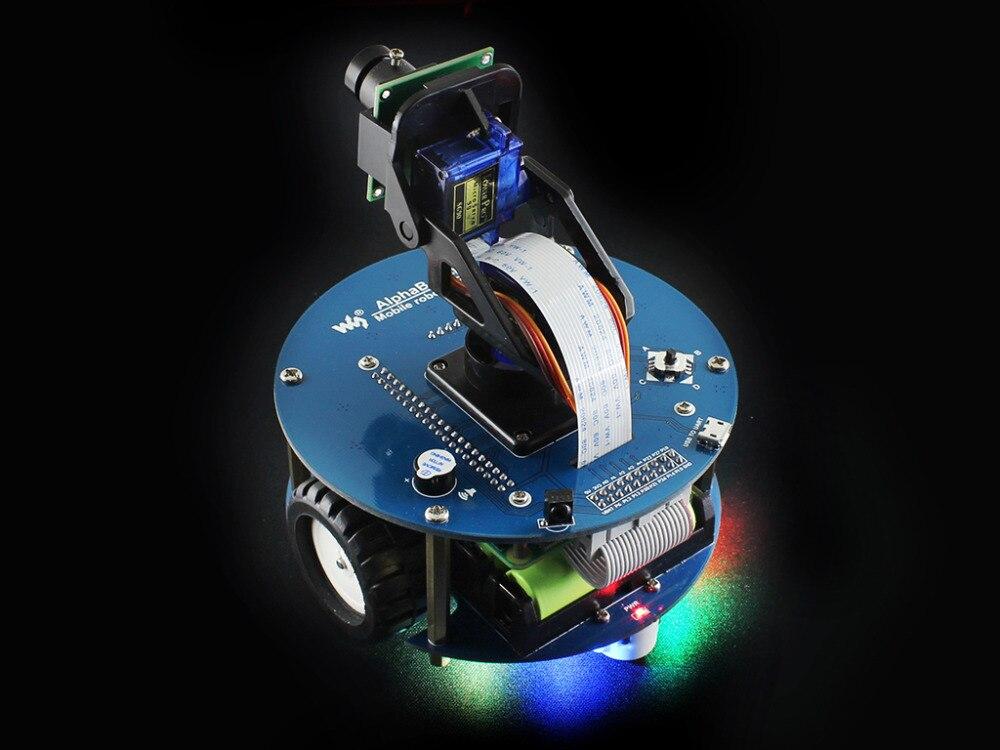 Image 3 - Raspberry Pi 3 Model B умный автомобиль аксессуар пакет AlphaBot2 робот строительный комплект с камерой 16 Гб Micro SD карта ИК пульт дистанционного управления-in Доски для показов from Компьютер и офис