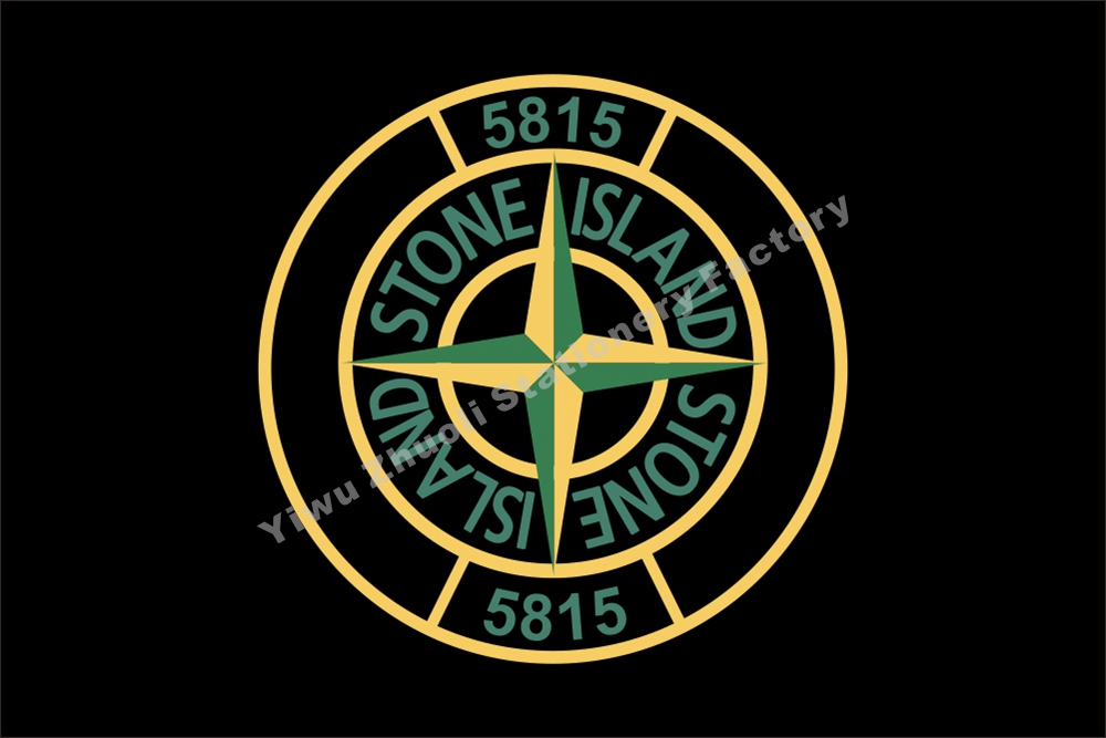 stone island 5815 flag size 3x2ft 5x3ft 6x4ft 100d polyester 144 96cm banner in flags banners. Black Bedroom Furniture Sets. Home Design Ideas