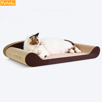 Petshy Luxury Pet Cat Scratch Board Pad Comfortable Cat Kitten Sofa Bed Cats Claws Care Toys Grinding Nail Scraper Mat Mattress