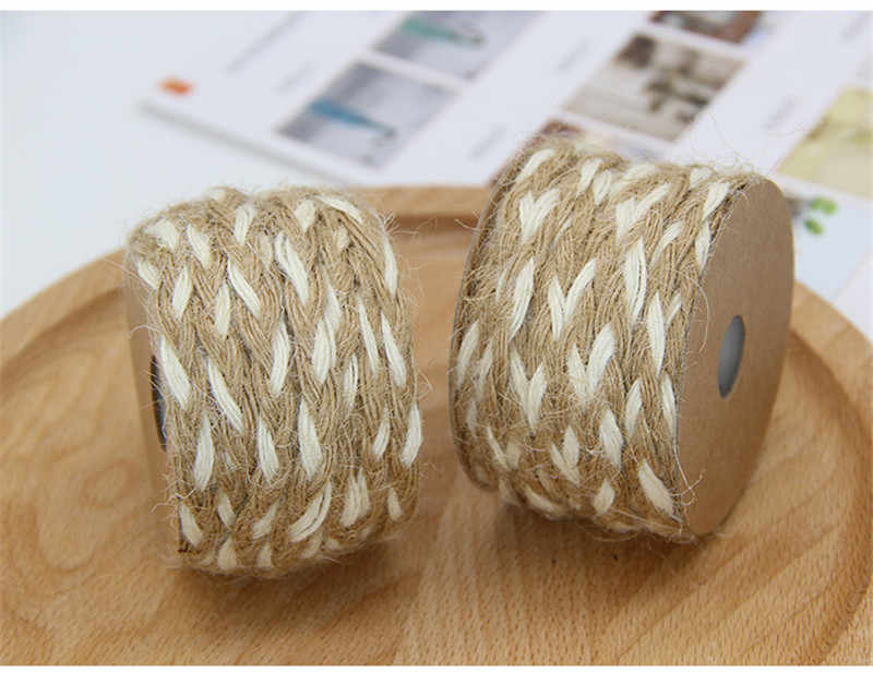 5 Meters Eco Natural White Jute Braided Rope Gift Box String DIY Craft Cord  BJ03