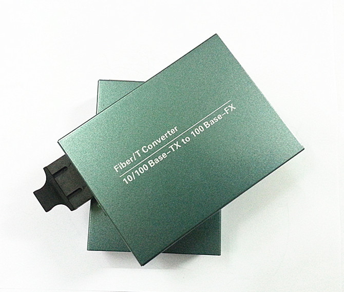 ᐂ10/100 M convertidor de medios 100 M/10/100 M dual Fibra Media ...
