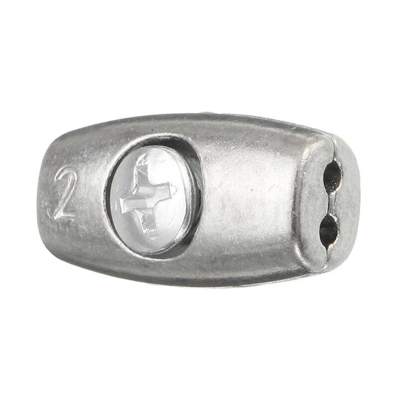 MTSPACE 2/4/6mm Cable abrazadera rosca Cable agarre Cable Simplex abrazadera aleación de níquel-fósforo plata para velería de aplicaciones
