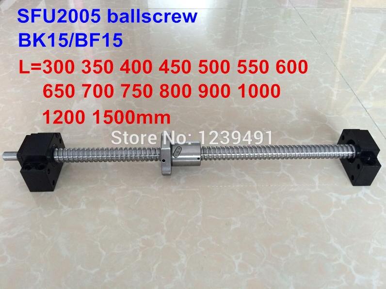 SFU2005 set 200 250 300 350 400 450 500 550 600 650 700 750 800 850 900 1000m ballscrew + BK15/BF15 CNC parts тормозные колодки для мотоцикла 400 600 400 700 250 750