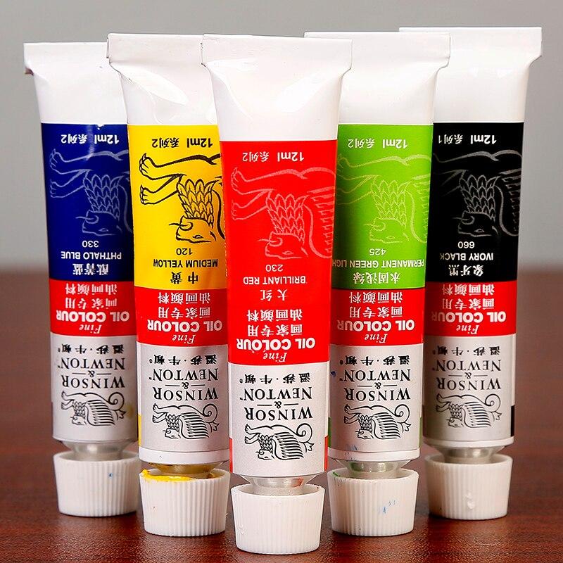 Winsor&Newton Professional 12/18Colors Oil Paints Set High Quality Oil Pigment For Artist School Student Acuarelas Art Supplies