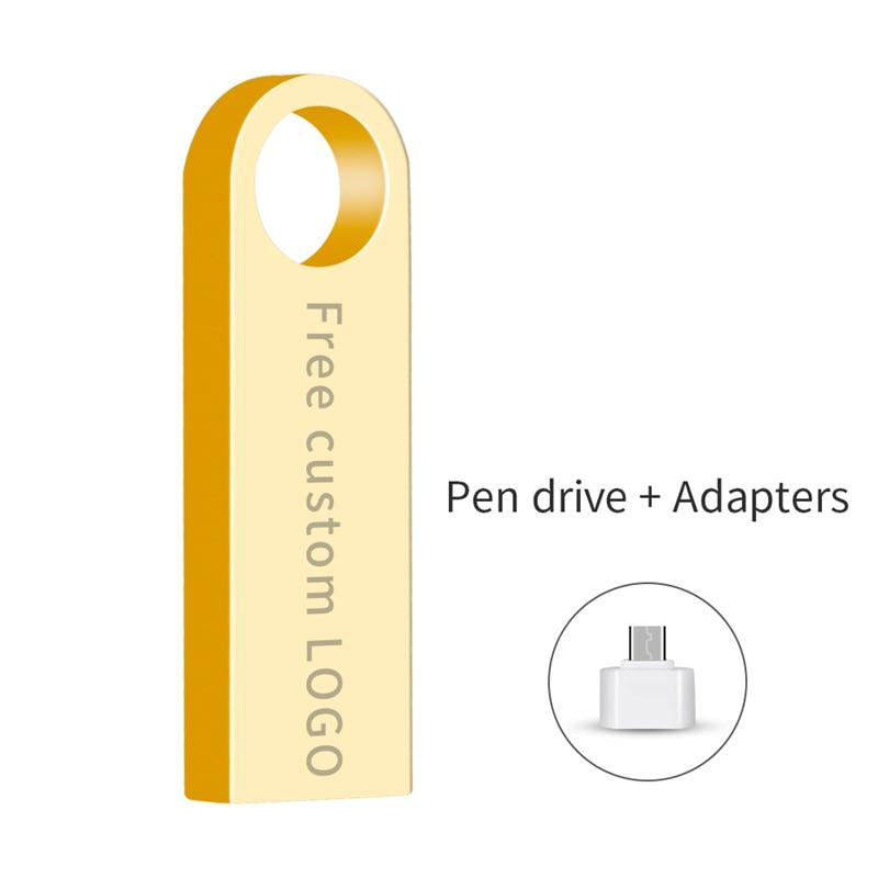 Usb Flash Drive Metal Pendrive 32GB 16GB 64GB Flash Memory Sticks 8GB 4GB Pen Drive Usb 3.0 Flash Disk 128GB Gift Free Shipping-in USB Flash Drives from Computer & Office