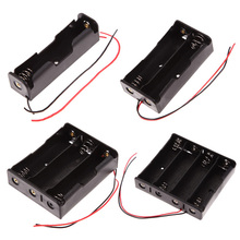 1Pcs/lot ABS 18650 Battery Holder 1-Slot 2-Slot 3-Slot 4-Slot 18650 Battery Storage Box Case With Wire Leads