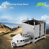 BRS Outdoor Wood Burning Camp Stoves Trail Hiking Camping Travelling Picnic BBQ Cooker Potable Folding Backpacking Stove Brs 116