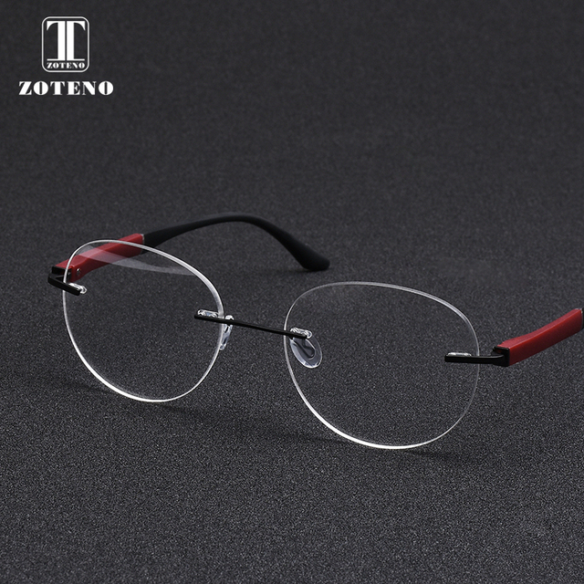 47aa73e015 Fashion Rimless Eyeglasses Frame Brand Design Round Myopia Computer Clear  Prescription Optical Eye Glasses Frames For