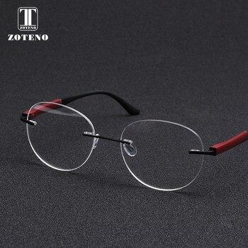 Moda gafas sin montura Marco de diseño de marca miopía ordenador ...