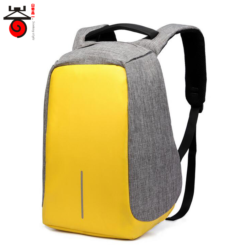 Senkey style Men Backpacks USB Charge Laptop Computer Backpacks Fashion Casual Antitheft Backpacks Men Women Stingent