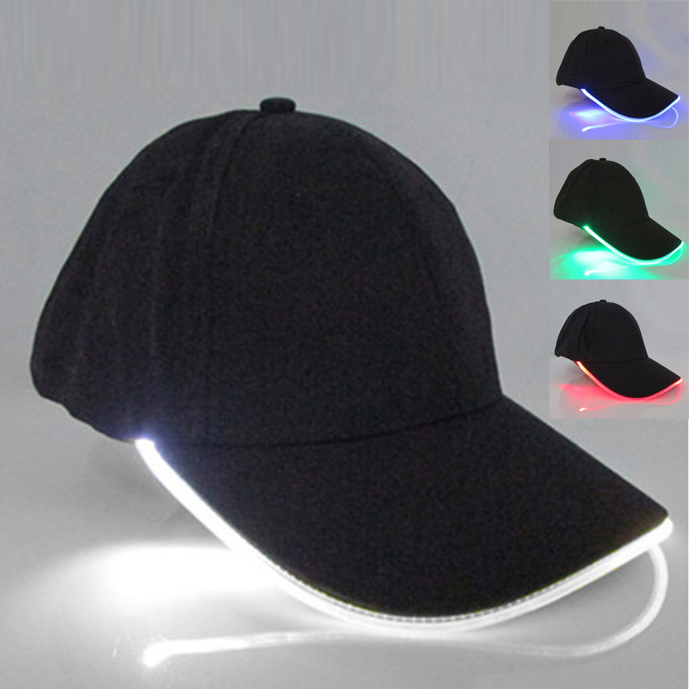 Cap Hat Fitted-Hats Baseball-Caps Party Glow-In-Dark Unisex IK88 Club-Props Led-Light