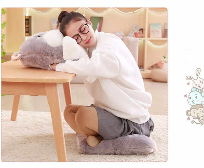 長方形の形状フランネルシートクッションシルク綿コアハンドウォーマー畳クッション枕家の装飾ソファクッション