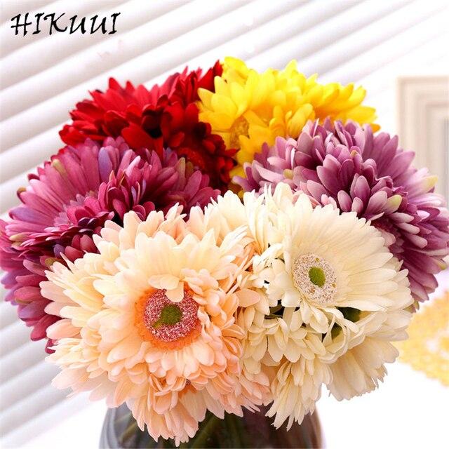 Kunstliche Blume Gerbera Hochzeit Dekorative Braut Bouquet Blumen