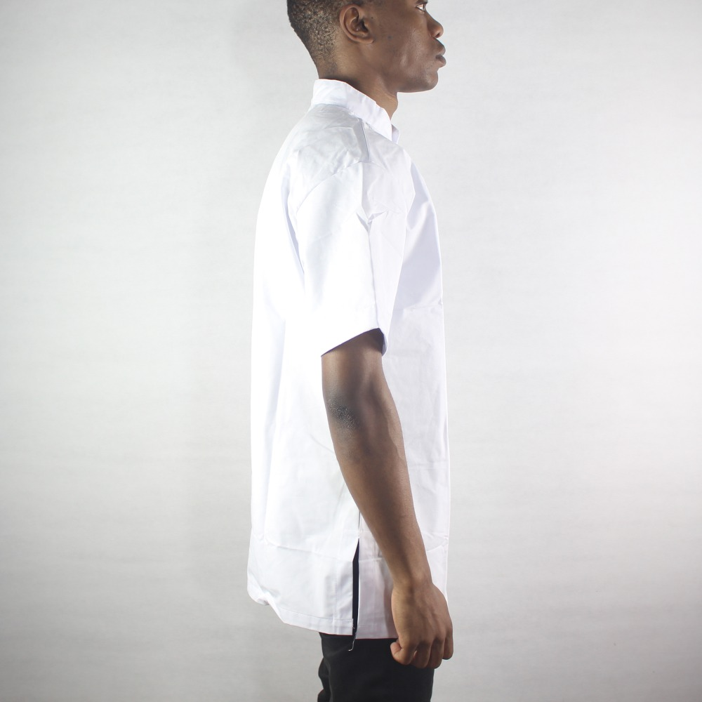 Africa White Ethnic Embroidery Men s Tops Side Slit Dashiki Shirts for Summer Wearing in Africa Clothing from Novelty Special Use