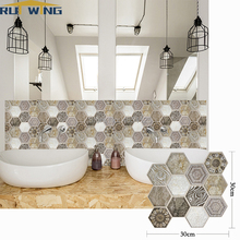 5PCS 3D brick wall stickers on the doors for boys kitchen sticker waterproof bathroom kids