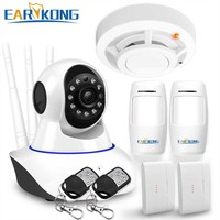 WAN & Wifi Camera 720P , IP Camera Compatible with 433MHz Detector, Wifi System alarm, door open sensor, motion sensor alarm