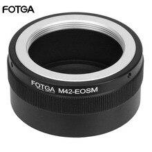 Anel adaptador de lente fotga m42, para câmera canon eosm m2 m3 EF M sem espelho