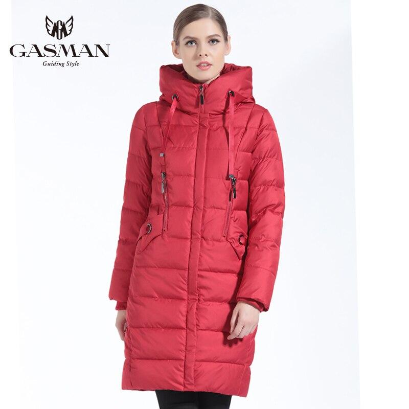575c30b533f95 GASMAN 2019 Kadın Kış Ceket Aşağı Uzun Kadın Kış Kalın Ceket Kadın Kapşonlu  Aşağı Parka Sıcak