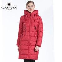 GASMAN 2019 Winter Women Bio Down Jacket Brand Long Winter Coat Women Hooded Down Parka Fashion Jacket New Winter Collection