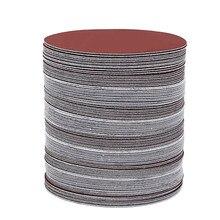 60 шт./компл., 5 дюймов, 125 мм, круглые песочные листы, зернистость 80/100/120/180/240/320, шлифовальный диск для шлифовальной машины