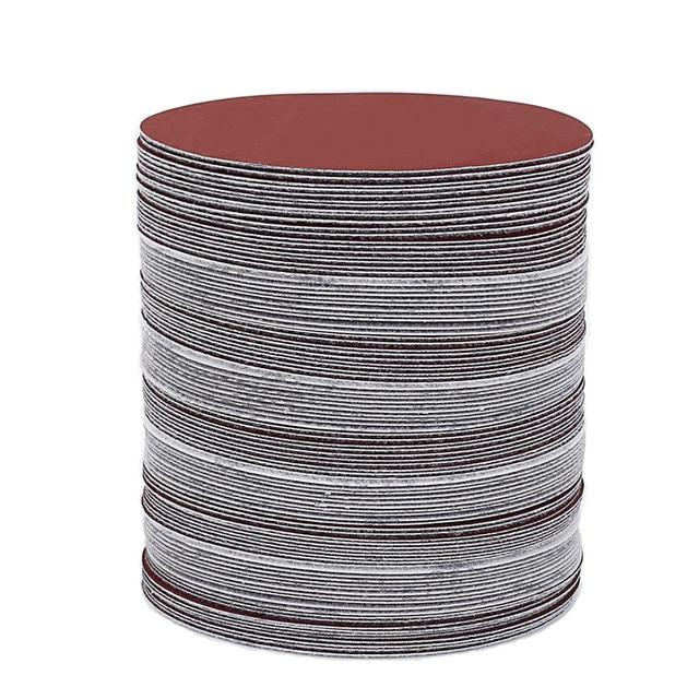 60pcs/set 5inch 125mm Round sandpaper Disk Sand Sheets Grit 80/100/120/180/240/320 Hook and Loop Sanding Disc for Sander Grits